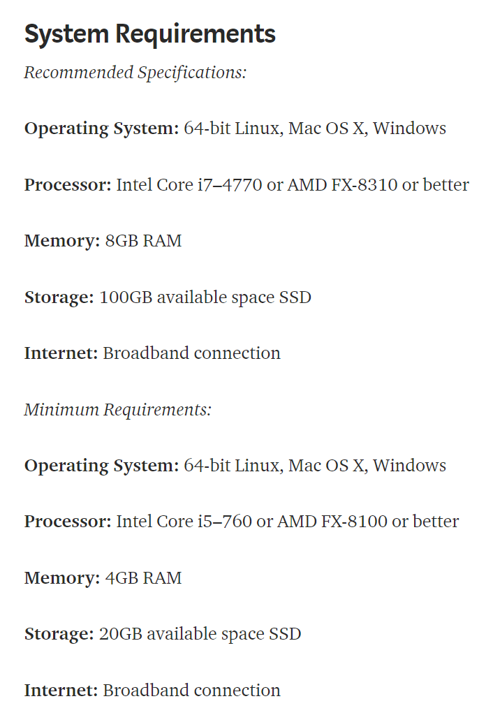 Topaz hardware requirements